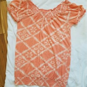 Lucky Brand Tops - Lucky Brand Peasant Style Short Sleeve Top